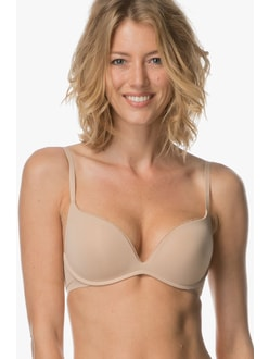 Podprsenka push-up CALVIN KLEIN Sculpted QF4038E nude