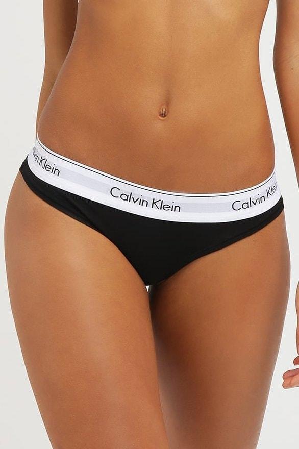 Dámské kalhotky CALVIN KLEIN Modern Cotton F3787E černé 9db5a465cb