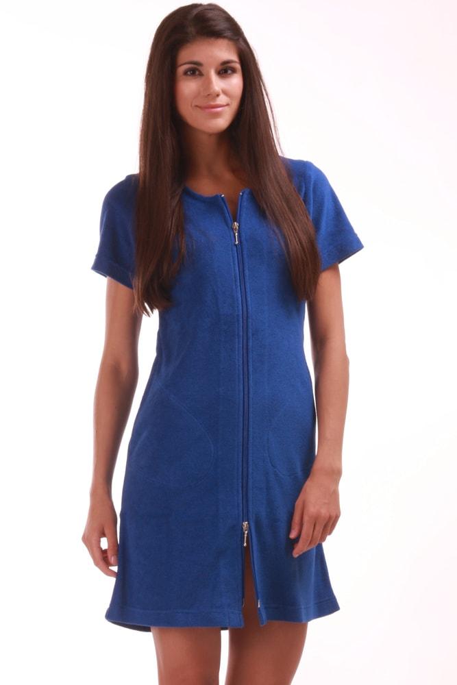 Plážové wellness šaty VESTIS Bari 51645751 s krátkým rukávem modré 6f5b0158686