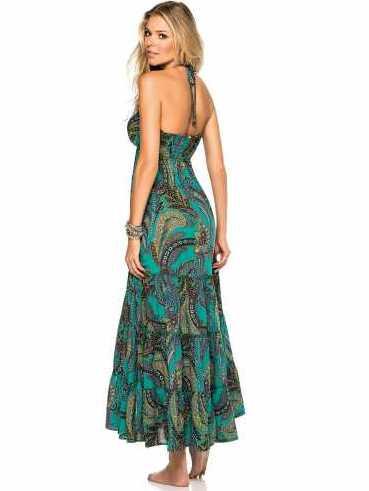 Plavky-Pradlo.cz - Dlouhé letní šaty PHAX Kinabalu Sunrise tyrkysové ... a98bcc68ef9